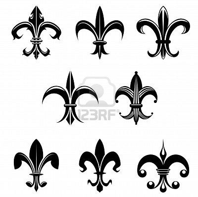 Royal French Lily Symbols For Design And Decorate Silhouette Cameo