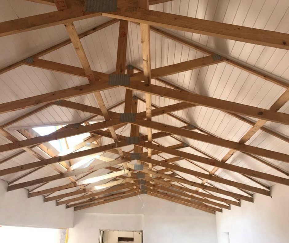 Pictured Here Is An Isoboard Application Referred To As Nail Up Ceiling Heat Gain In Residential Ho Industrial House Industrial Home Design House Roof