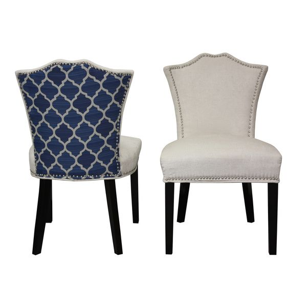 Blue Fabric Dining Chairs