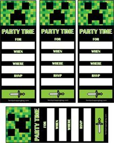 Minecraft party invitations and get ideas how to make your party minecraft party invitations and get ideas how to make your party invitation with sensational appearance 7 filmwisefo
