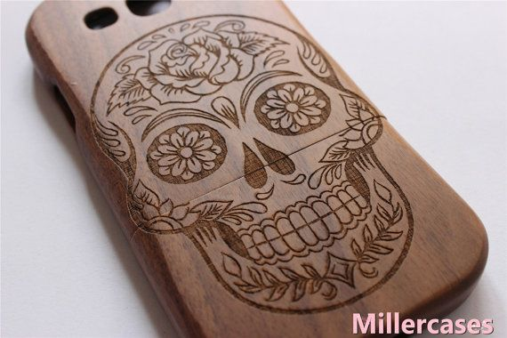 skull wood Samsung Galaxy s3 case Samsung Galaxy by Millercases