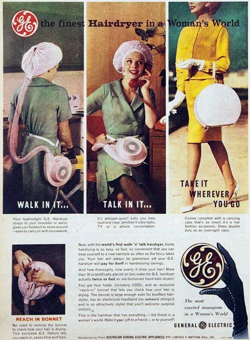 General Electric Generalelectric On Twitter Vintage Hair Dryer Vintage Ads Travel Hair Dryer