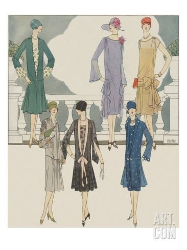 Women S Fashion From 1920s Giclee Print At Art Com Fashion Poster Fashion Art 1920s Fashion