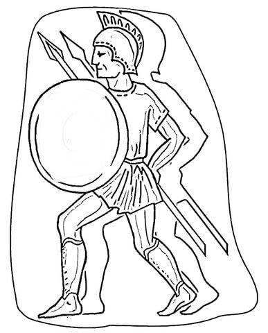 Roman Warrior Coloring page 4
