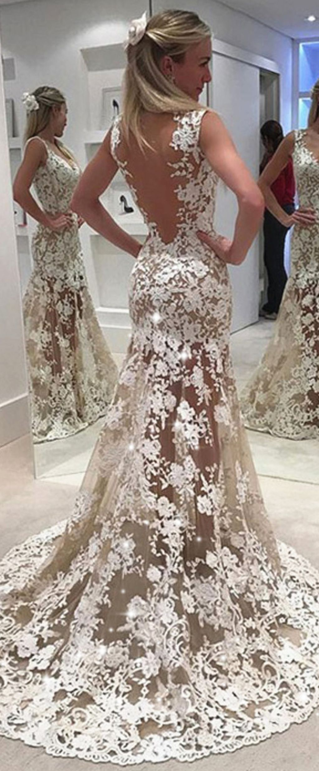 beautiful v neck tulle wedding dress ideas pinterest