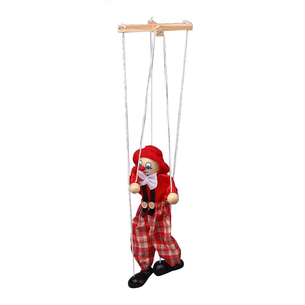 Marionette Puppets Clown Marionette Puppet String Puppets Wooden Marionette Toys Doll for Kids Adults Interactive Toys Ornament Hanging Decoration Yarn Puppets Clown Dolls String Puppet Xmas Gifts