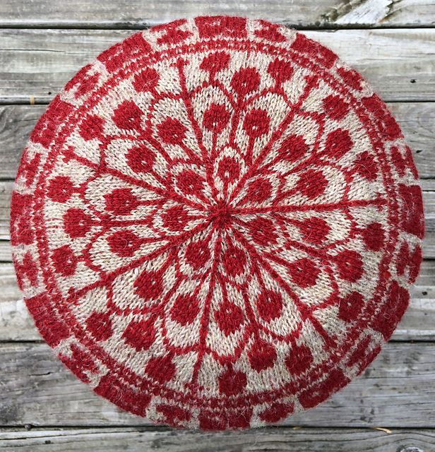 Berries and Branches Hat pattern by Lynn Nilges | Crown pattern ...