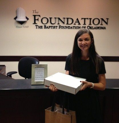 Jayme at The Baptist Foundation won breakfast from The Wedge last week!   Follow @OECU on Twitter for a chance to win every Wednesday morning!