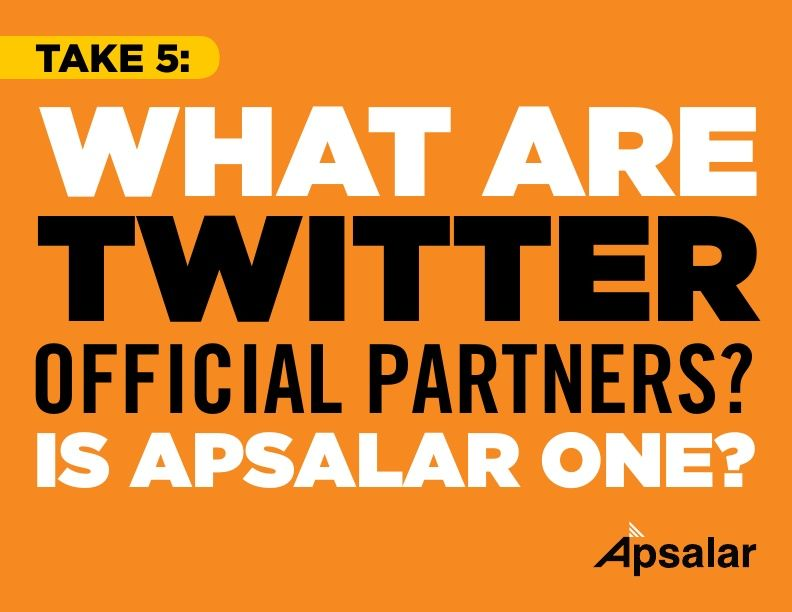 Take 5 – What are Twitter Official Partners?