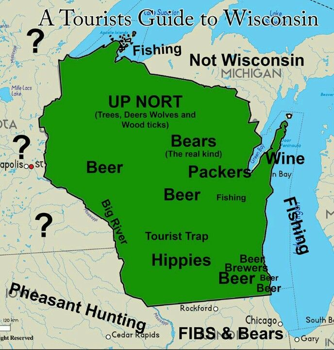 5 Maps Of Wisconsin That Are Just Too Perfect And Hilarious