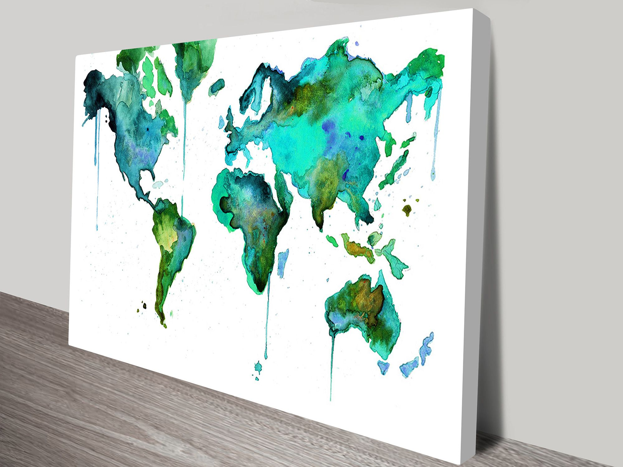 Watercolours world map canvas pinterest watercolor map watercolours world map canvas print australia gumiabroncs Choice Image
