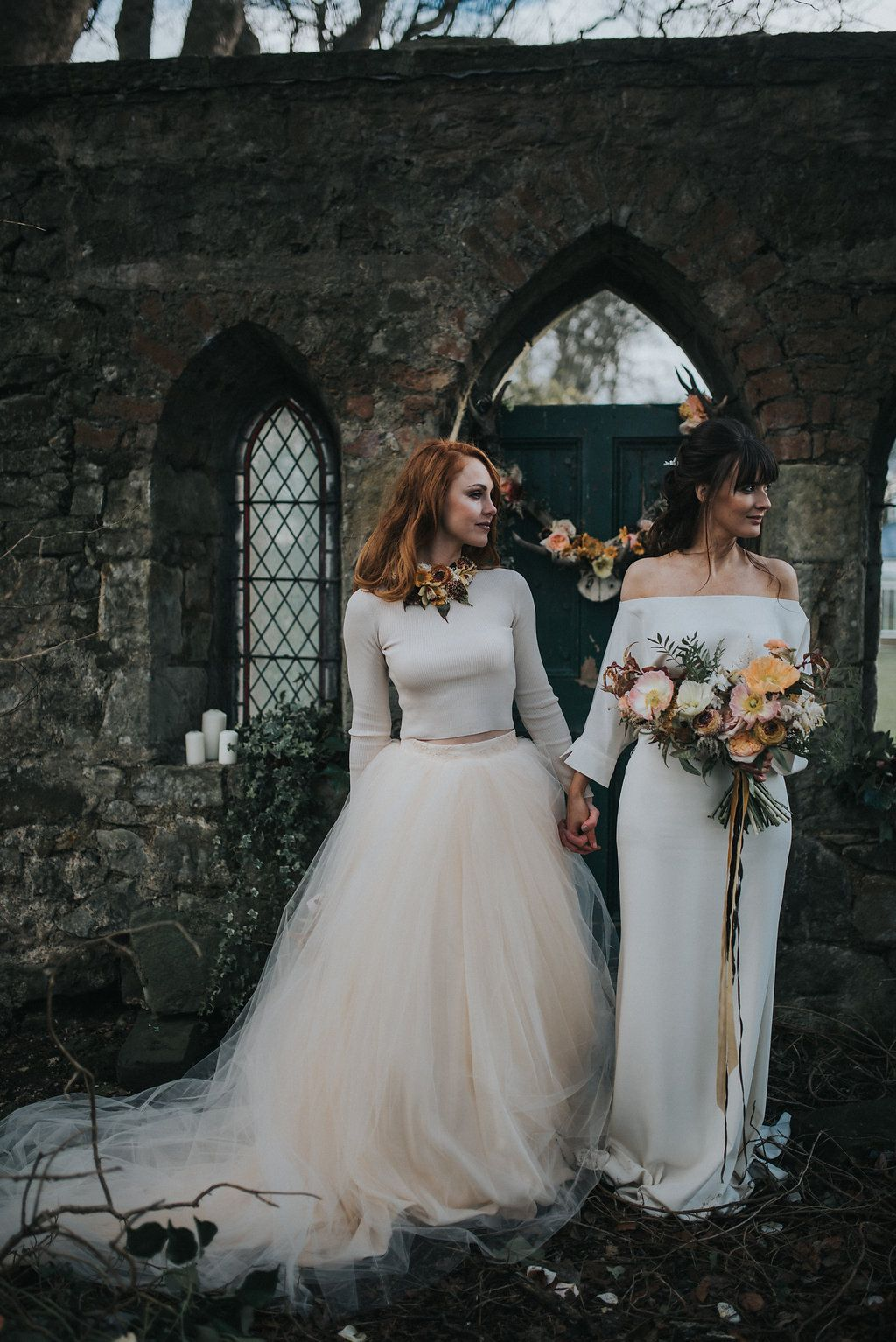 Unique style wedding dresses  Inspired by preRaphaelite paintings the gothic surroundings of