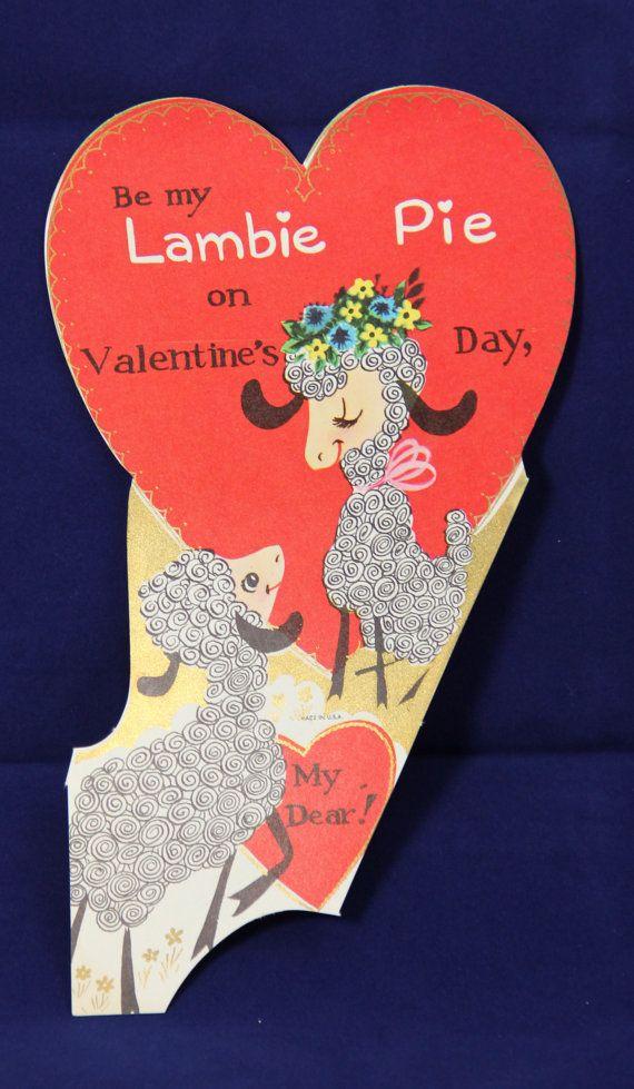 vintage 1960s novelty valentine card childrens classroom