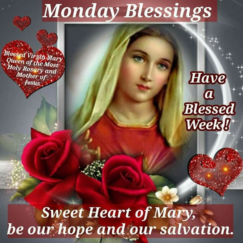 Immaculate Heart Of Mary Pray For Us Mary Holy Pictures
