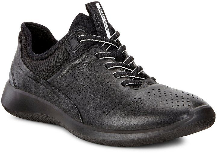 ECCO Women's Soft 5 Leather and Mesh Perforated Lace-Up Sneakers lGEWc9C