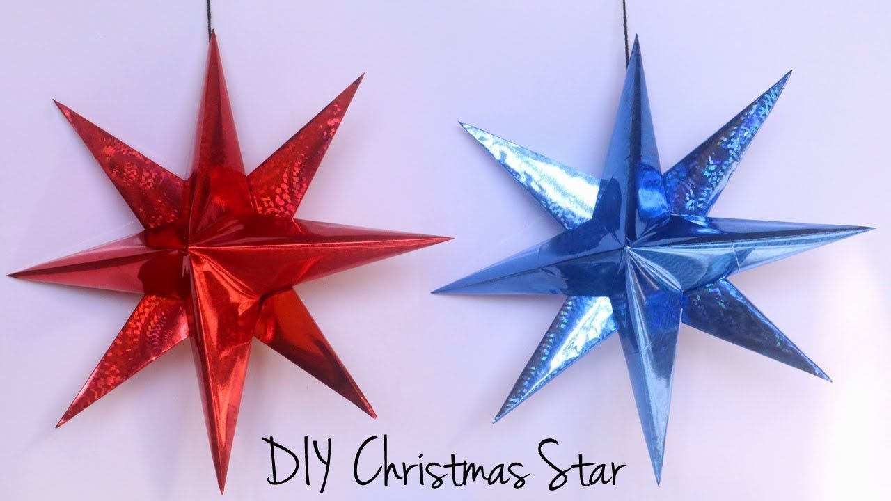 How To Make Christmas Star Paper Star Christmas Decorations With Paper Youtube Diy Christmas Star Paper Christmas Decorations Christmas Star