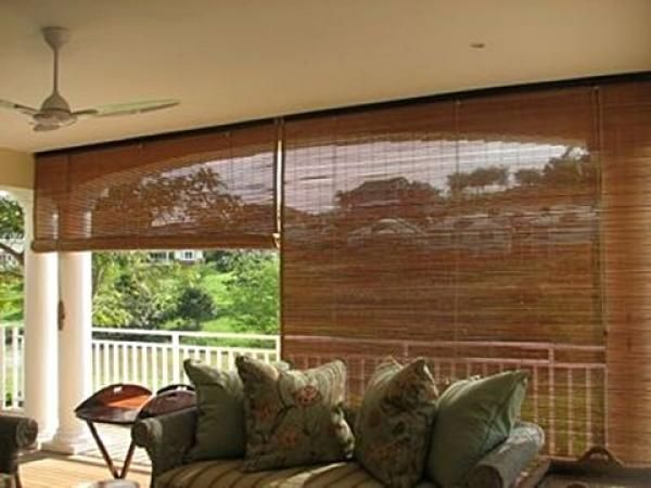 Bamboo Shades For The Back Deck Outdoor Blinds Bamboo Blinds