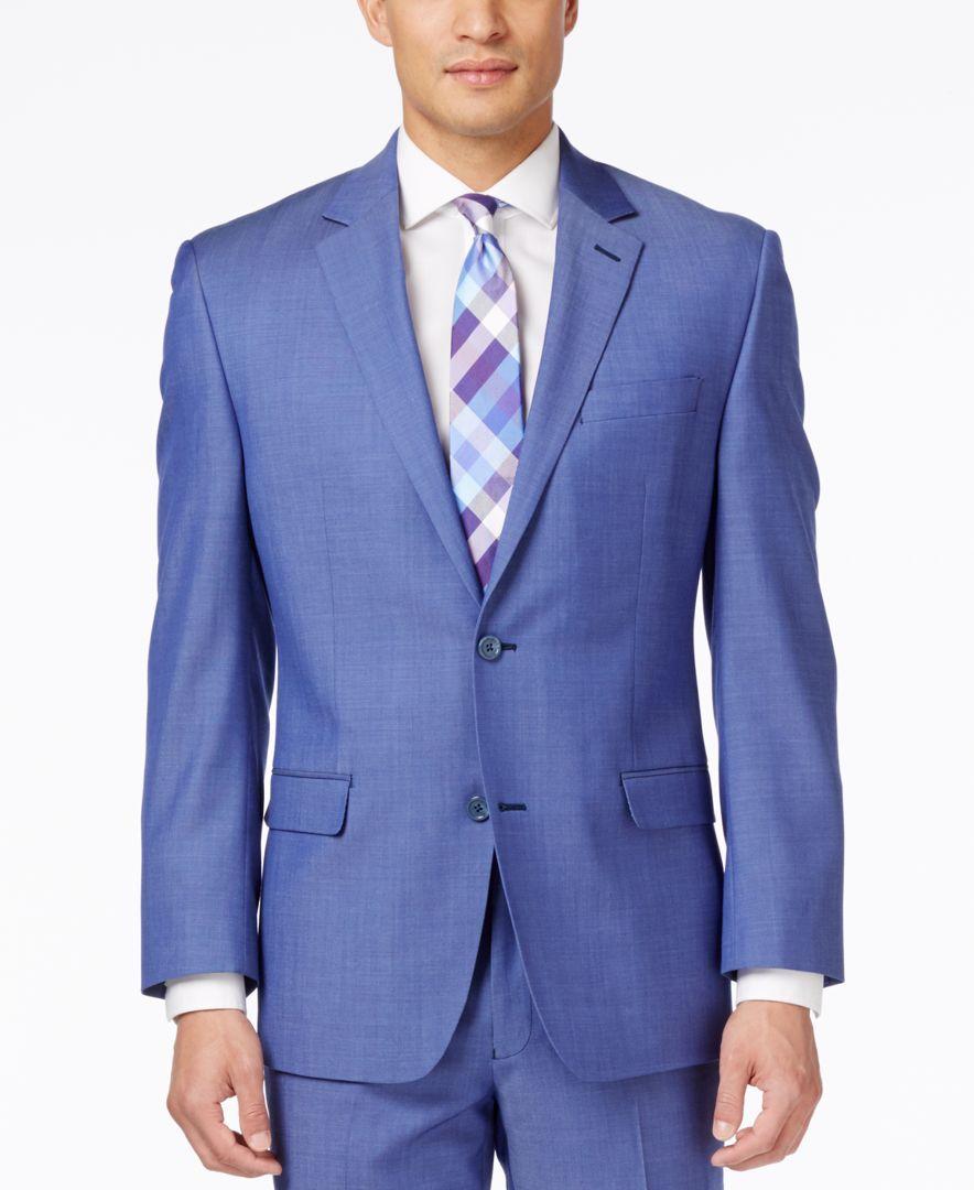 b95ca8434fa93 Shaquille O Neal Men s Big   Tall Medium Blue Classic-Fit Jacket ...