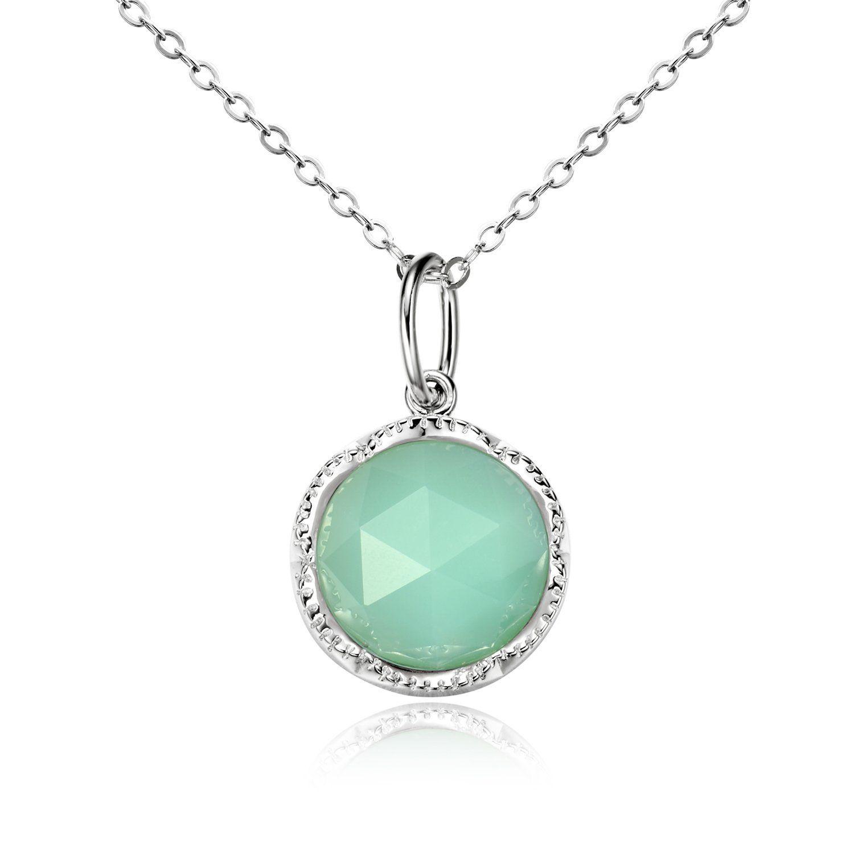 Handmade Resin 925 Sterling Silver Pendant Necklace for Women and Girls Gift 40+5cm extender O2Xe60