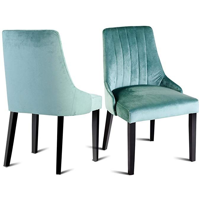 Sensational Giantex 2 Pcs Velvet Dining Room Chair Set Upholstered Gmtry Best Dining Table And Chair Ideas Images Gmtryco