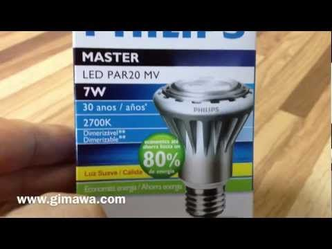 Lampada led philips master par w v lighting