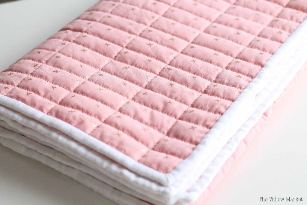 Sewing A Baby Blanket With Cotton Fabric Wool Batting