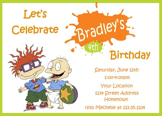Personalized Photo Invitations | Cmartistry : Rugrats