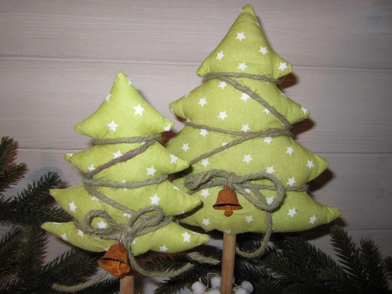 2 XL Tannenbäume - Winter Weihnachten Sterne  von Frau Knopf auf DaWanda.com