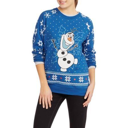 Olaf Juniors Ugly Christmas Pullover Walmartcom Ugly Christmas