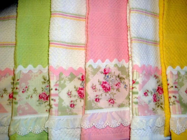 Shabby Chic Kitchen Towels Pop Pinterest