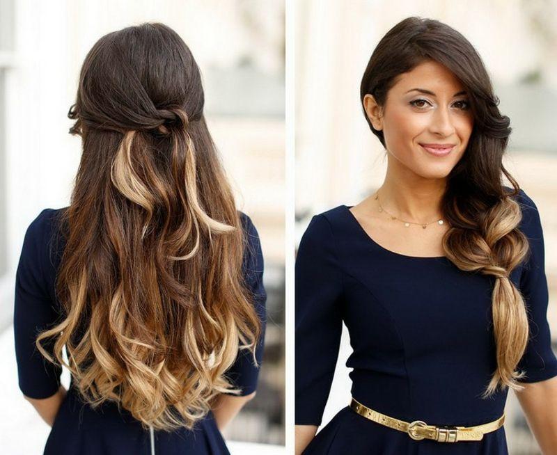 Originelle Frisuren Halboffen Lange Haare Frisuren Trends