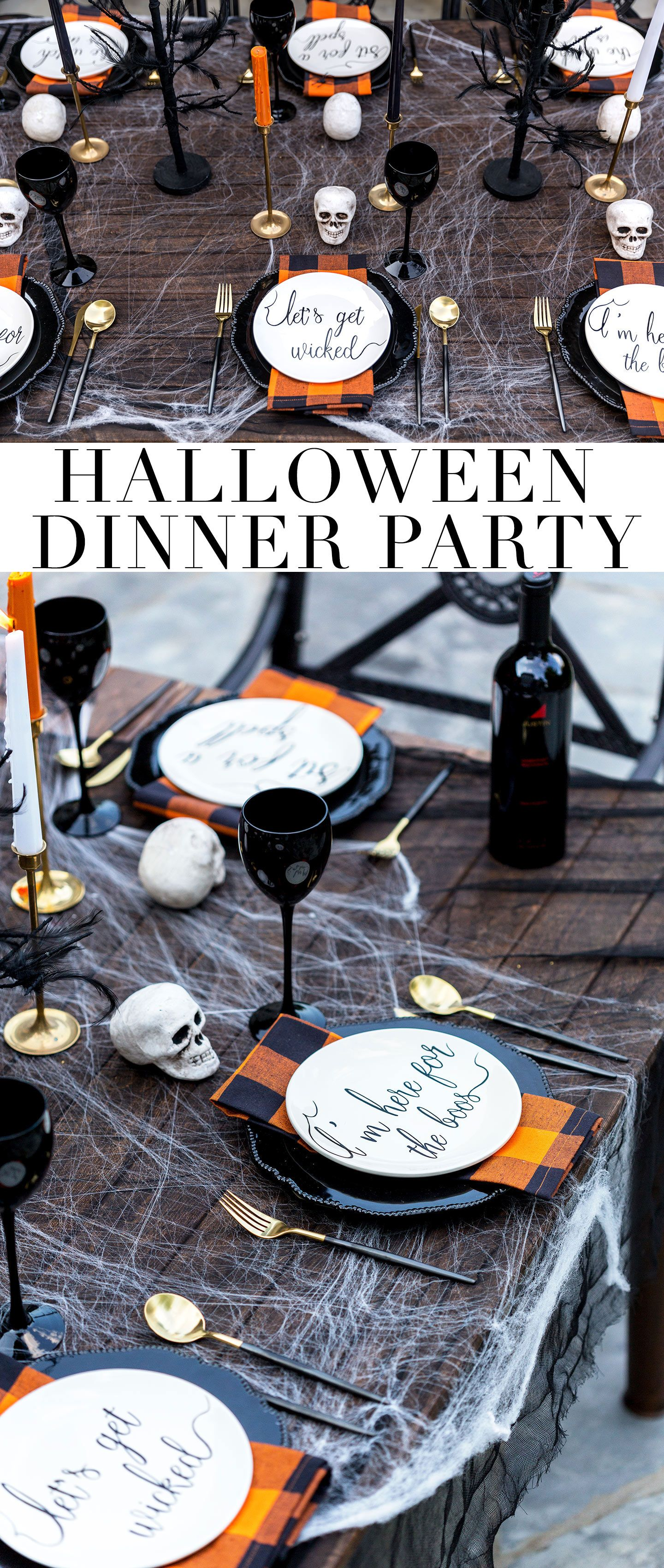 Halloween Dinner Party Ideas.Spooky Adult Halloween Party Table Arrangement Halloween