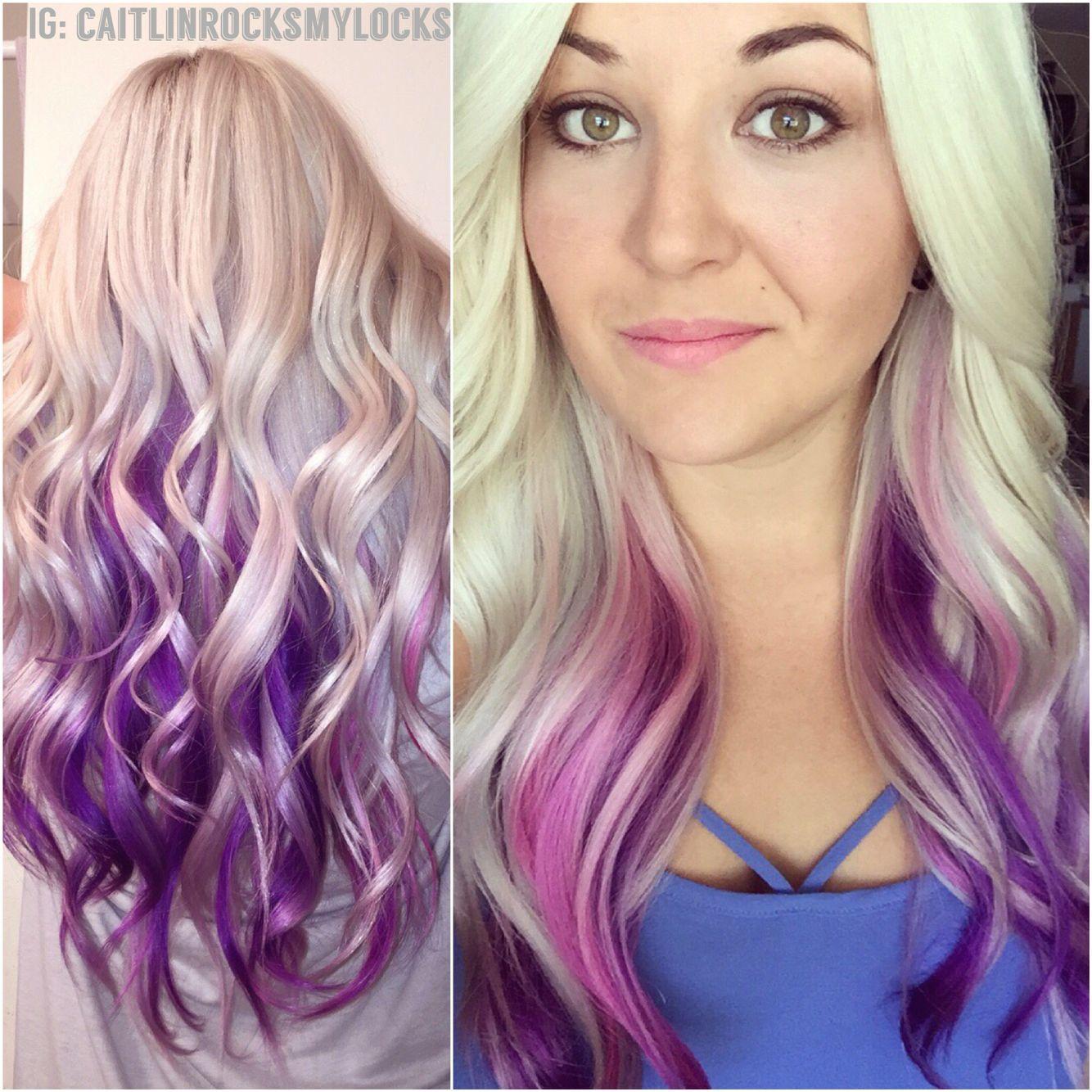 Purple hair. Pink hair. Purple and pink hair. Platinum blonde ...