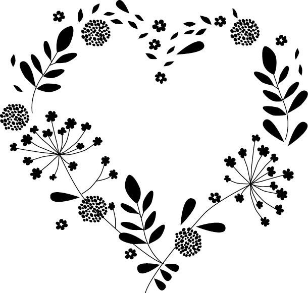 Tampon mariage cœur champetre