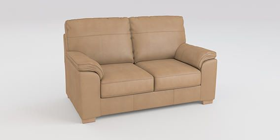 Bosworth Ii Leather Small Sofa 2 Seats Sahara Light Natural Slim Block From The Next Uk Online