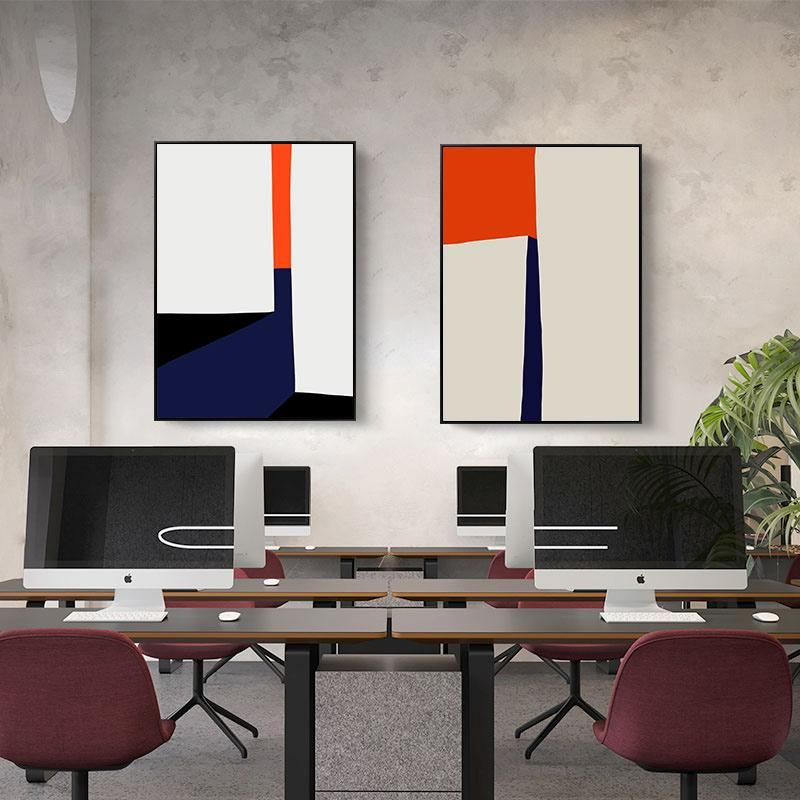 Bold Geometric Abstract Contemporary Canvas Art For Modern Office Or Home Nordicwallart Com Contemporary Art Canvas Wall Art Canvas Painting Home Decor