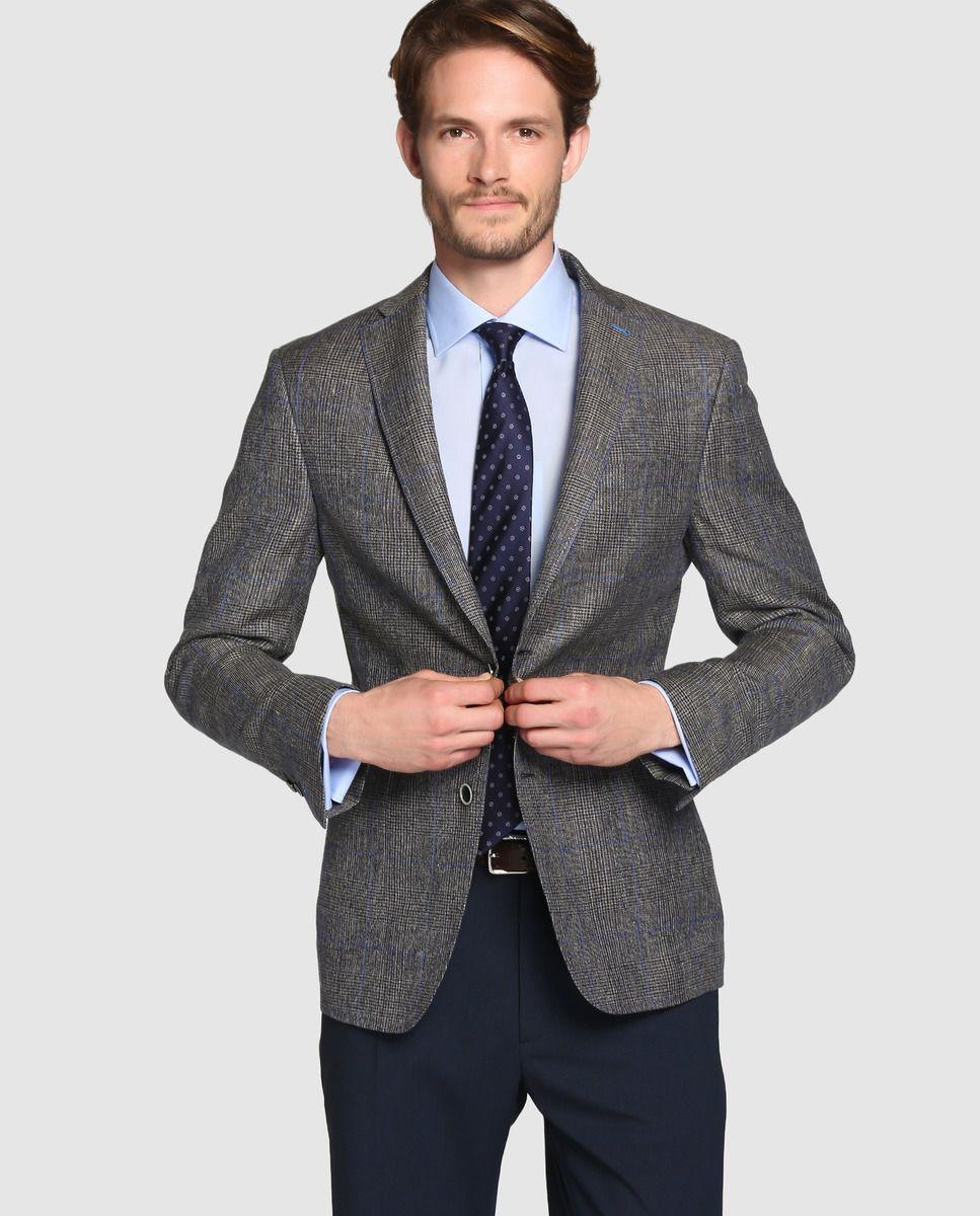 Americana de hombre Mirto classic de cuadros gris · Mirto · Moda · El Corte  Inglés 78260073099