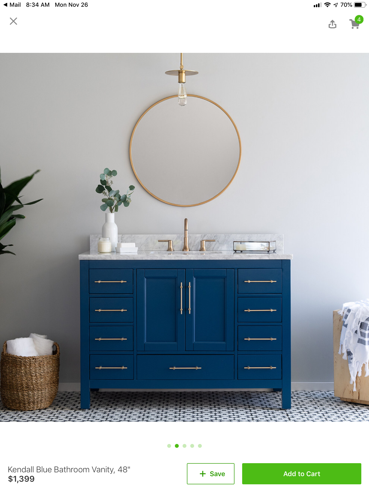 the best attitude 87d07 1ada0 Image result for kendall blue bathroom vanity 48 | Cabin ...