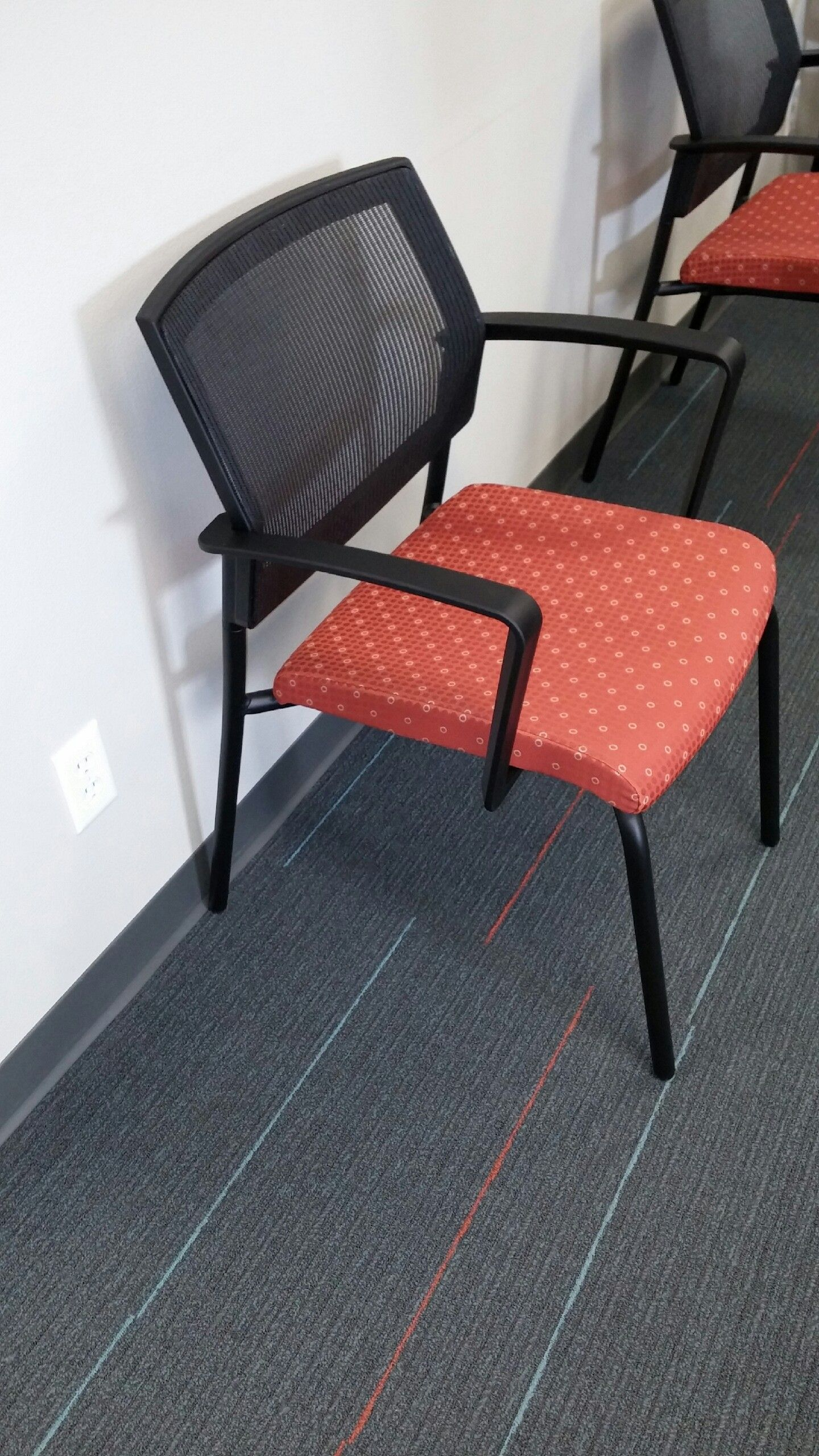 sit on it black mesh back waiting room chairs for a rehab office