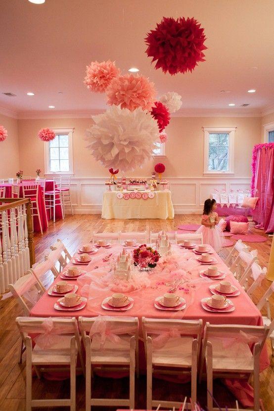 Cute Dinner Party Ideas Part - 31: Little Girls Tea Party Birthday Idea