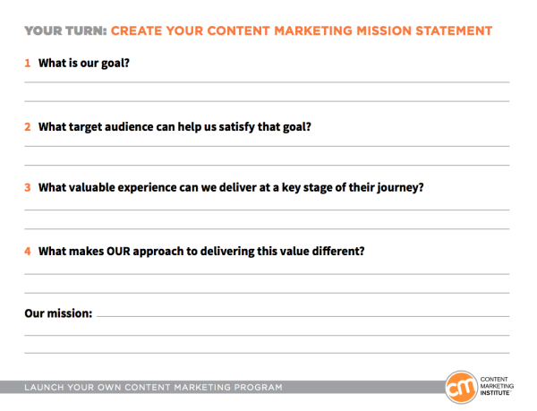 Content Marketing Mission Statement  BB Marketing