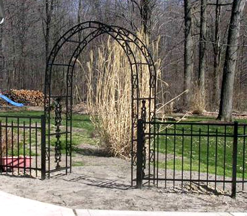 Fence Gate Arbor: Ornamental Aluminum Metal Arbor