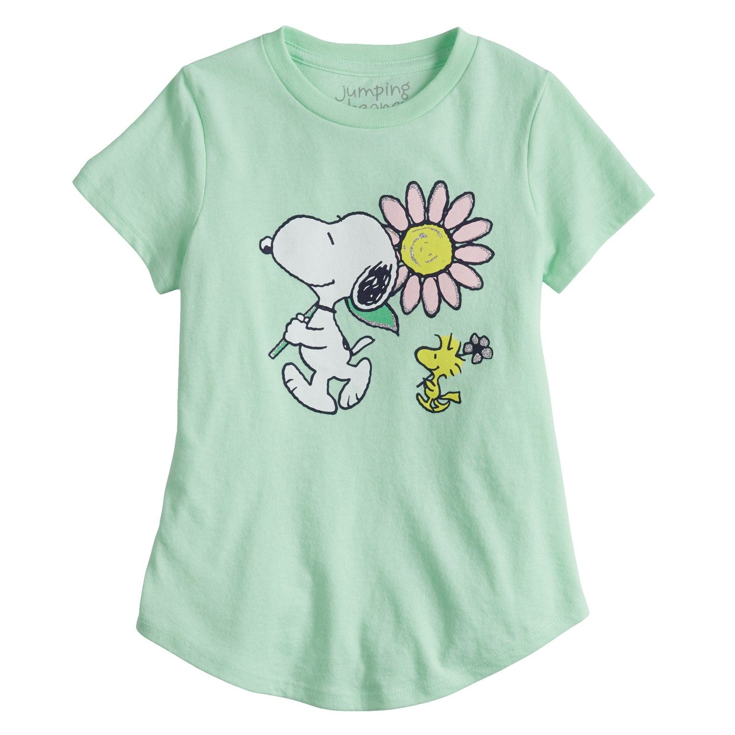 711f55aa Girls 4-6x Jumping Beans? Snoopy Graphic Tee | Old Fashion Home ...