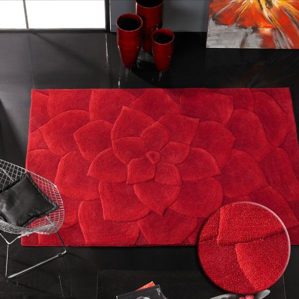 beau tapis salon rouge - Tapis De Salon Rouge