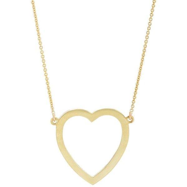 Womens Large Open Heart Pendant Necklace Jennifer Meyer mOIhUeB