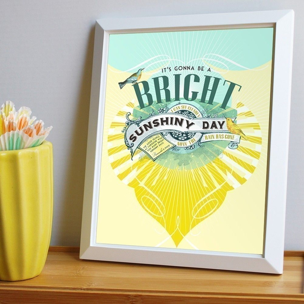Bright Sunshiny Day Print - large print. $30.00, via Etsy.