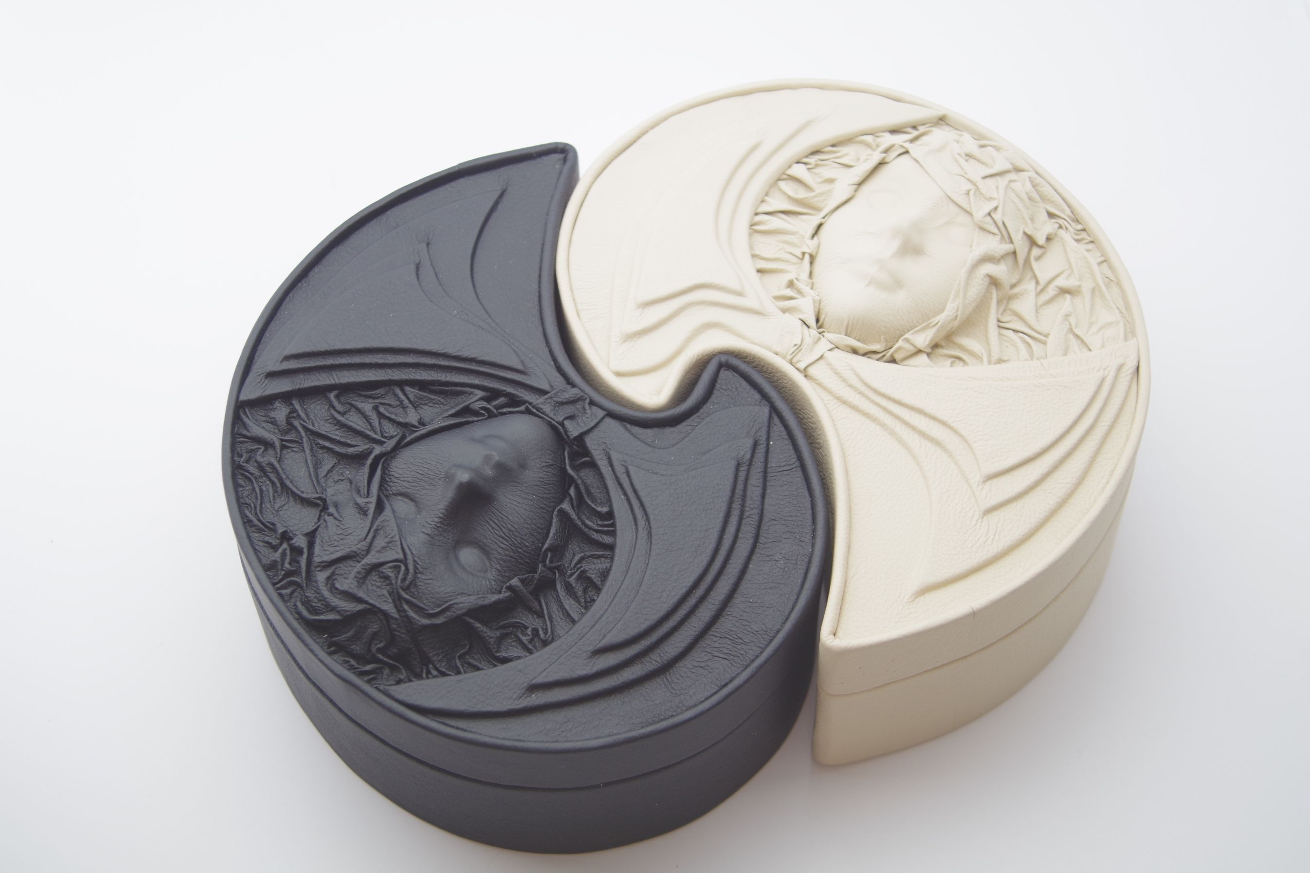 Yin and yang jewellery boxes set big jewellery boxes of crescent