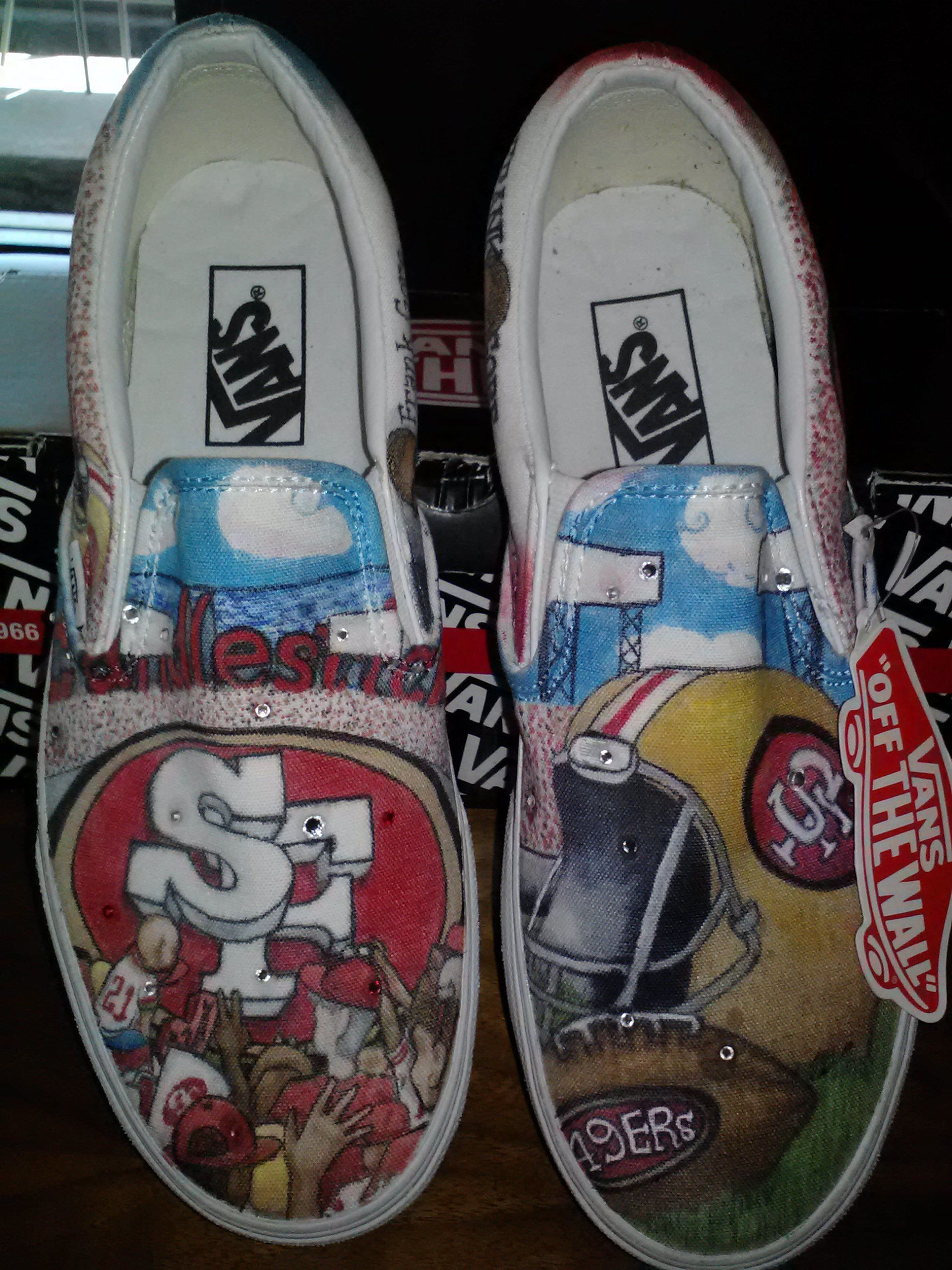 Custom 49er Kicks Www Noparadigmdesigns Com The Sole Shoppe Hockey Shoes Vans Classic Vans Classic Slip On