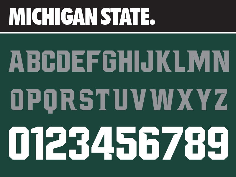 Nike Fonts Pack 1 Font Packs Michigan State Fonts