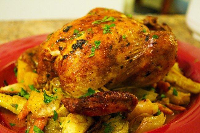 Cómo hacer un pollo asado de película